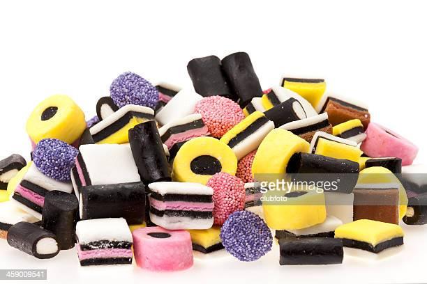 Caramelle colorate di liquirizia
