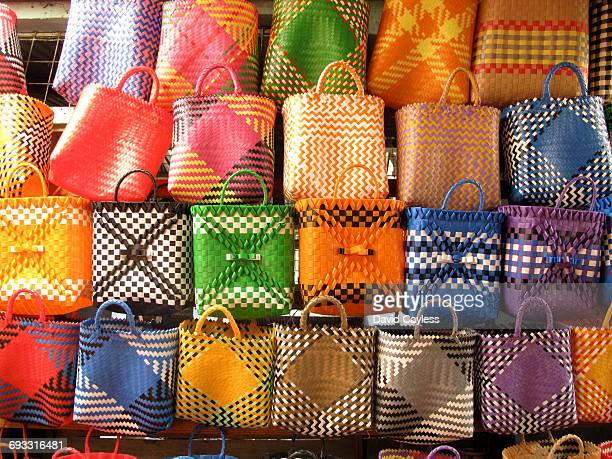 Colourful Madagascan market stalls