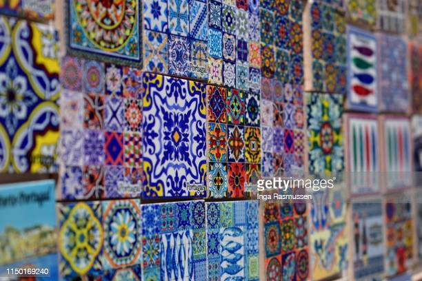 colourful magnets, porto, portugal - porto portugal stock pictures, royalty-free photos & images