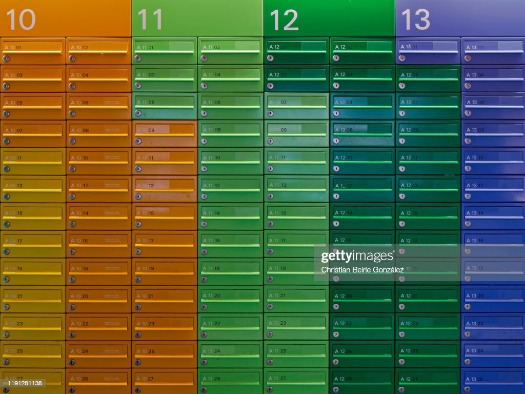 Colourful Mailboxes : Stock Photo