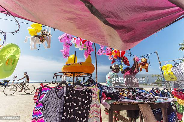 Colourful markets on the beach in Sri Lanka