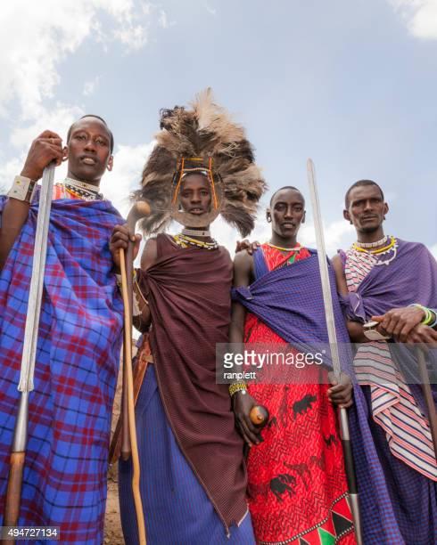 Colourful Masai Warriors