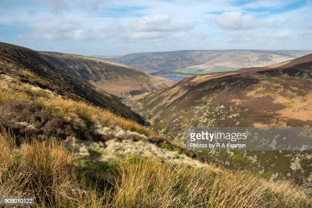 Colourful moorland scenery at Torside Clough, Pennine Way, Derbyshire