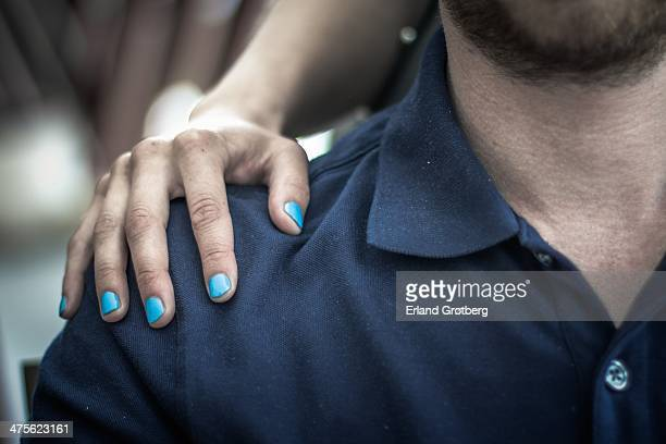 colourful nails - carrying on shoulders stock pictures, royalty-free photos & images
