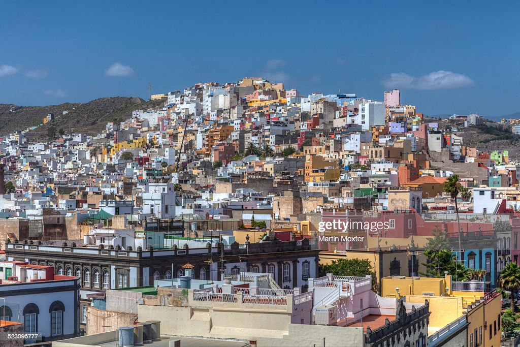 Colourful nested houses san juan district las palmas de - Pisos com las palmas de gran canaria ...