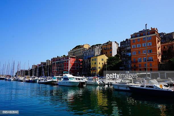 Colourful old Port of Bastia, Corsica, France
