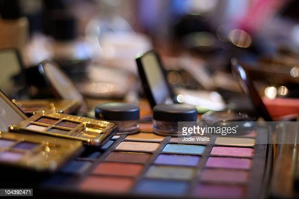 Colourful palette of eye make-up