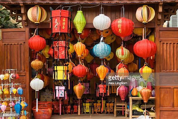 Colourful paper lanterns for sale, Vietnam
