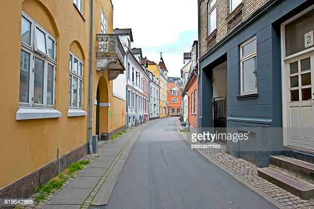 colourful passageway, aalborg, denmark - aalborg stock pictures, royalty-free photos & images