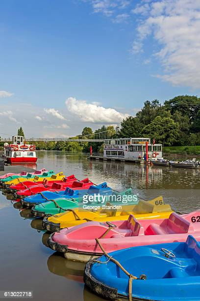 Colourful Pedal Boats River Dee Chester