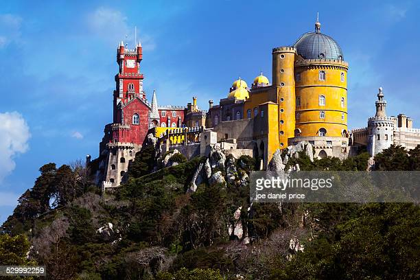 Colourful Pena Palace, Sintra, Lisbon, Portugal