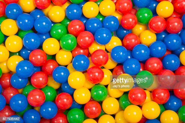 Colourful play balls