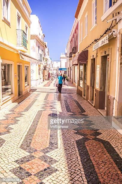 colourful portuguese tiles, lagos, portugal - faro city portugal fotografías e imágenes de stock