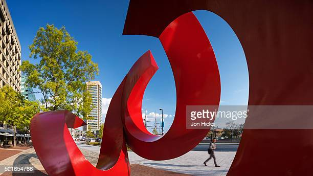 A colourful sculpture in Baltimore's Inner Harbor.
