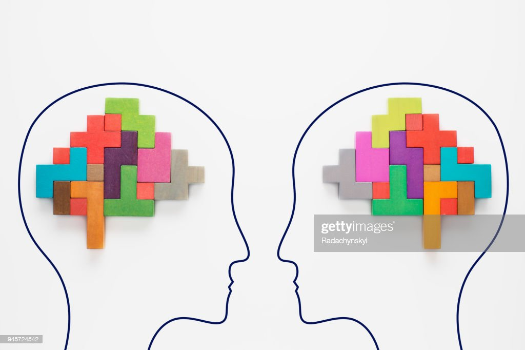 Colourful shapes of abstract brain : Stock Photo