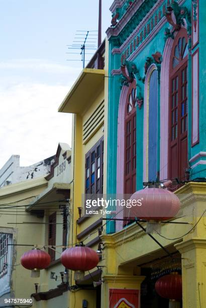 Colourful shop houses also known as terrace houses in Malacca Malaysia