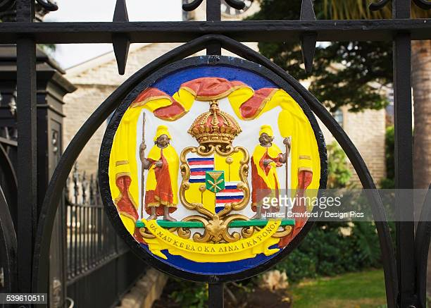 A Colourful Sign At Kawaiahao Church In Historic Downtown Honolulu