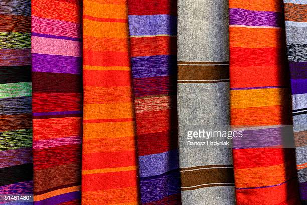 Colourful silk scarves for sale, medina of Fes