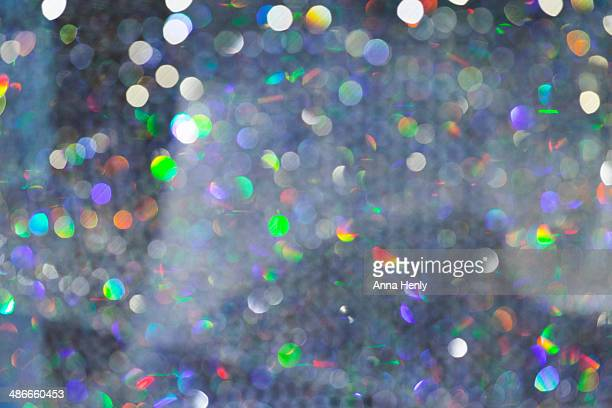 Colourful sparkly out of focus pattern