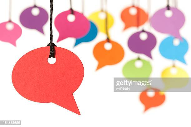 Colourful speech bubbles