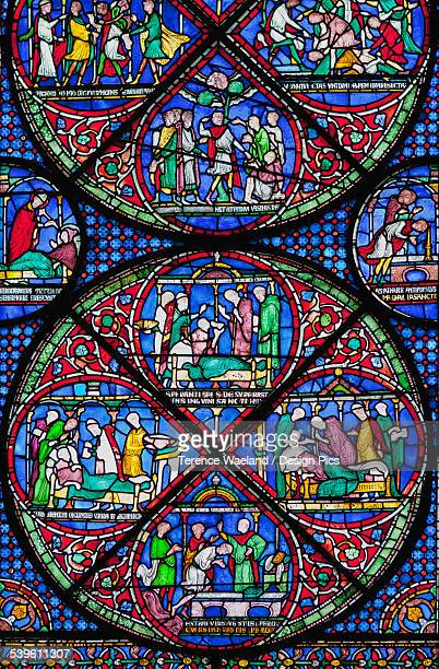 Colourful Stained Glass Window In Canterbury Cathedral