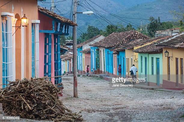 Colourful street in historical center, Trinidad, UNESCO World Heritage Site, Sancti Spiritus Province, Cuba, West Indies, Caribbean, Central America