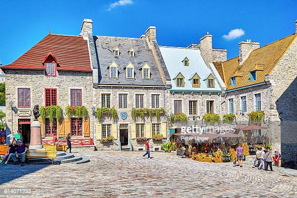 Colourful streets of Quebec City,Canada