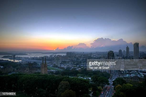 Colourful sunrise over eastern Sydney