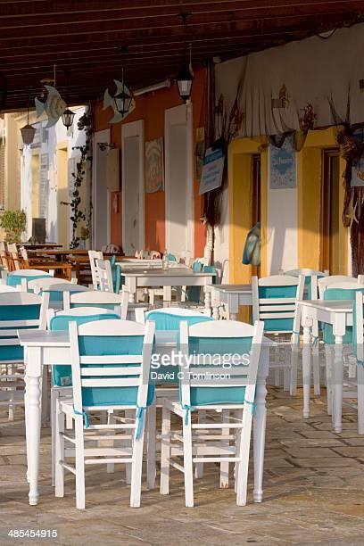 Colourful taverna, Gaios, Paxos, Greece