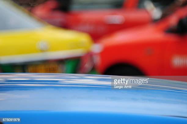 Colourful taxis in Bangkok