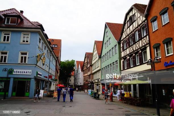 Colourful Timbered Houses at Marktstrasse, Bad Cannstatt, Stuttgart, Germany