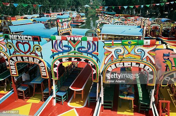 Colourful Trajineras (Gondolas), Mexico City, Mexico