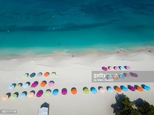 Colourful Umbrellas at Eagle Beach, Aruba