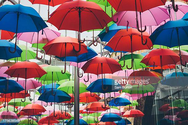 CONTENT] Colourful umbrellas hang over Borough market in London