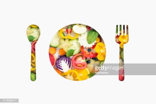 colourful vegan food healthy eating conceptual still life. - 抗酸化物質 ストックフォトと画像