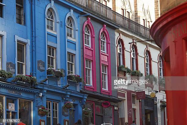 Colourful Victoria Street in Edinburgh