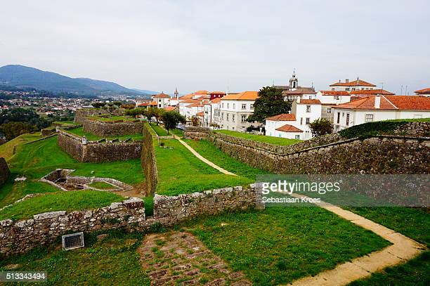 Colourful view Fortress and Old Town, Valença, Portugal