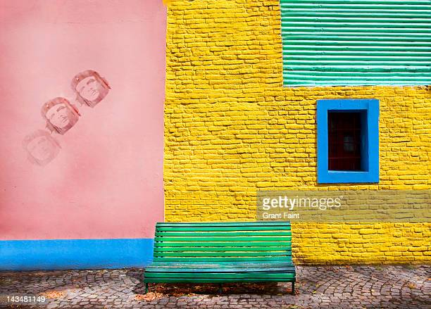 Colourful wall, Boca district, Buenos Aires