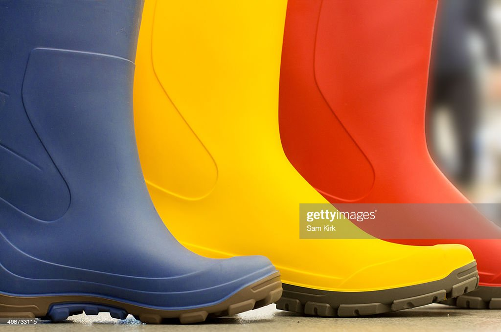 Colourful Wellies : Stock Photo