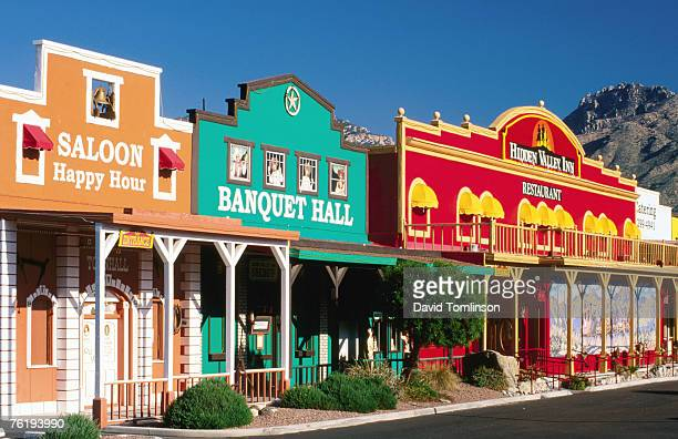 Colourful western-style facade near Sabino Canyon, Tucson, Arizona, United States of America, North America