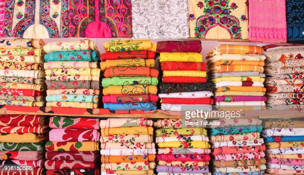 colourful woolen cloths - guwahati stock photos and pictures