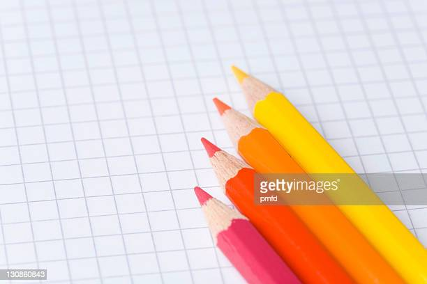 Colouring pencils in a row