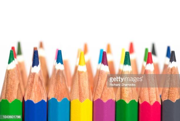 colouring pencils - colouring bildbanksfoton och bilder