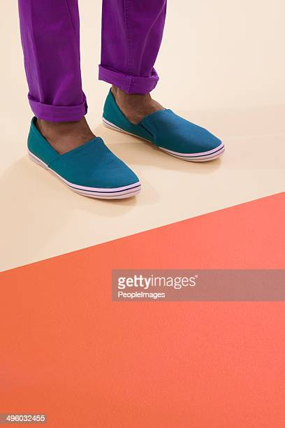 colours and footwear - purple shoe stock pictures, royalty-free photos & images