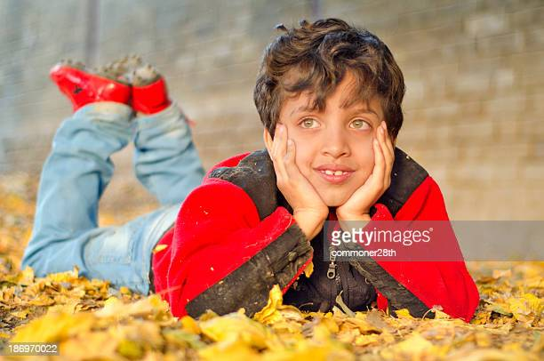 colours of autumn ! - pakistani boys stock photos and pictures