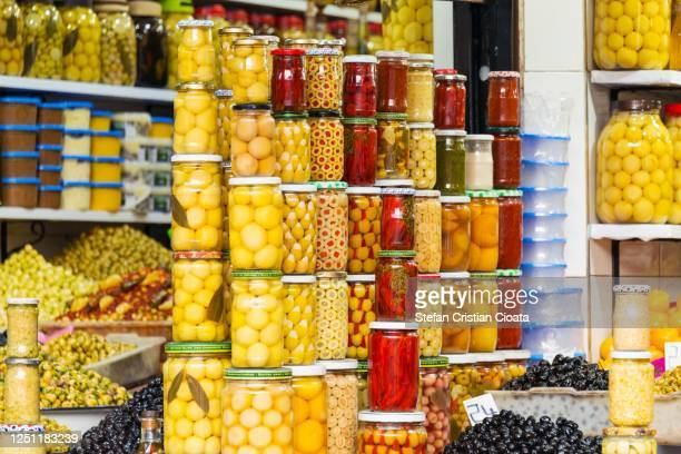 colours of marrakesh, a walk though the souks. morocco, africa - luques olive stock pictures, royalty-free photos & images