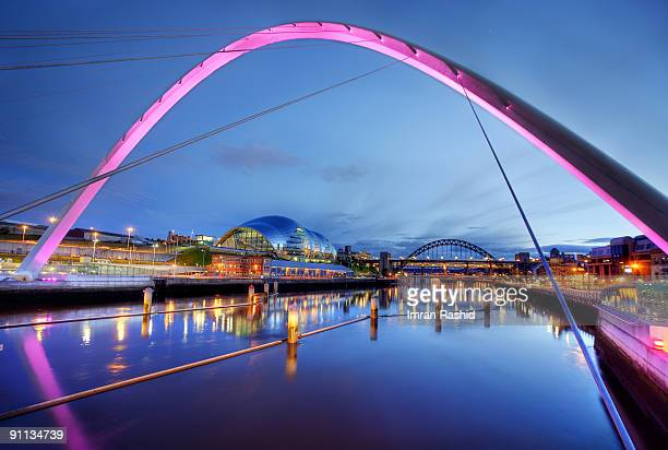 colours of the bridge - newcastle upon tyne stock pictures, royalty-free photos & images