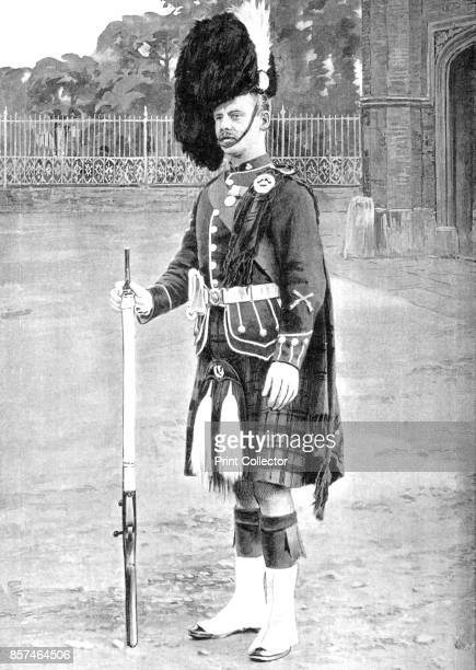 ColourSergeant The Queen's Own Cameron Highlanders' circa 1880 Episode of the AngloZulu Wars From British Battles on Land and Sea Vol IV by James...