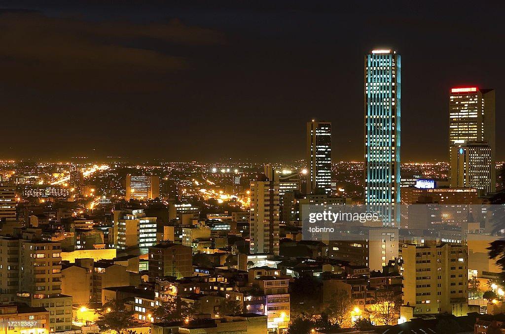 Torre Colpatria: turqouise : Stock Photo