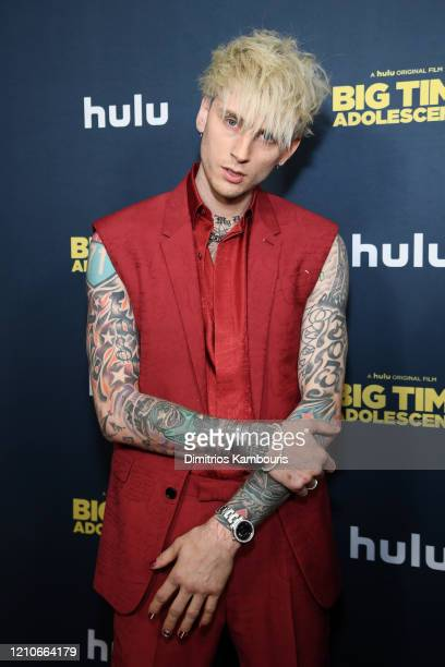 """Colson Baker AKA Machine Gun Kelly attends the premiere of """"Big Time Adolescence"""" at Metrograph on March 05, 2020 in New York City."""
